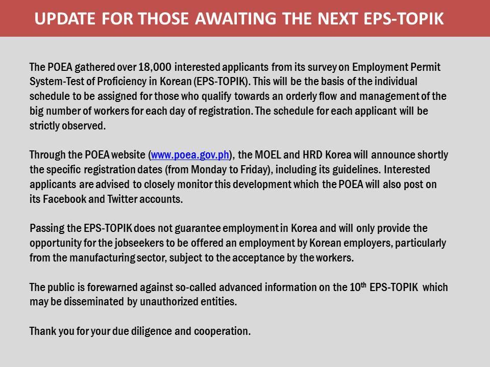 Latest News from POEA